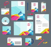 Corporate style business templates. Set of stationery Stock Photos