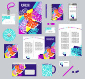Corporate style business templates. Set of stationery Stock Photography