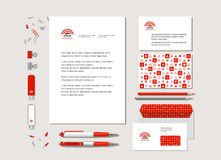 Corporate style with geometrical figures. The neutral corporate style with geometrical figures, points and the abstract sign. Samples of business cards, a flash Stock Illustration
