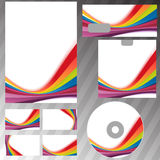 Corporate style rainbow swoosh line template Royalty Free Stock Photo