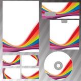 Corporate style rainbow swoosh line template. Vector illustration Royalty Free Stock Photo