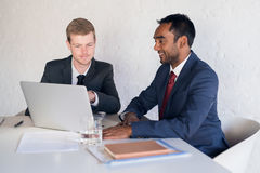 Corporate synergy in the boardroom Stock Photo