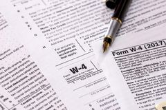 Corporate tax return form - 1120 royalty free stock photos