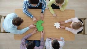 Corporate teamwork concept stock video
