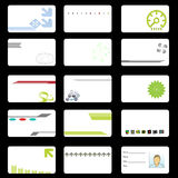 Corporate Tech Business Cards Stock Photography