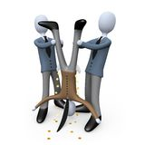 Corporate Theft. Computer generated image - Corporate Theft Royalty Free Stock Photo