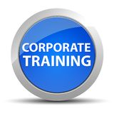 Corporate Training blue round button royalty free illustration