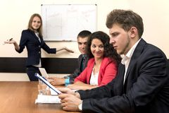 Corporate training royalty free stock photography