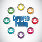 Corporate training people network illustration. Design over a white background Stock Photos