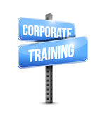 Corporate training road sign illustration design. Over a white background Stock Images