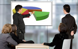 Corporate trainning - man presenting Royalty Free Stock Photography