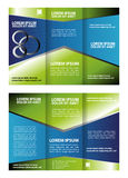 Corporate Tri Fold Brochure vector illustration Royalty Free Stock Photos