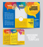 Corporate Tri Fold Business Brochure Design Template. Vector Corporate Tri Fold Business Brochure Design Template Royalty Free Stock Photos