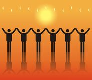 Corporate troops. Corporate troops, there is many people constituting royalty free illustration
