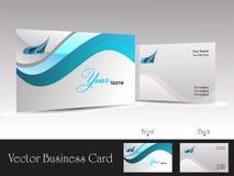 Corporate vector business card templates. Abstract blue wave design corporate vector business card templates Stock Photo