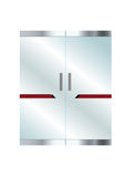 Corporate vector glass office door Stock Photo