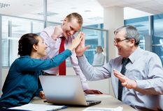 Corporate victory Royalty Free Stock Images
