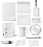 Corporate visual identity design templates. Realistic corporate visual brand identity blank design templates stock illustration