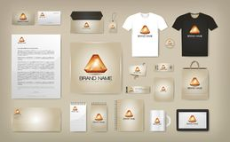 Corporate Visual Identity Mock Up Stock Image