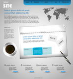 Corporate web design template Royalty Free Stock Photo
