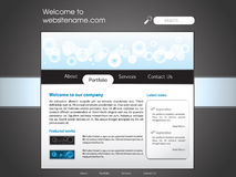 Corporate Web Site Template Royalty Free Stock Image