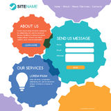Corporate website template. Modern flat web design. Colorful abs Royalty Free Stock Photography