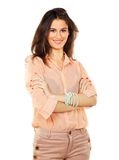 Corporate Woman with Arms Folded Royalty Free Stock Images