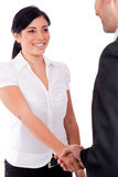 Corporate woman giving hand shake Stock Photography