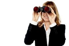 Corporate woman hunting success Stock Photos