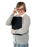 Corporate woman looking at you Royalty Free Stock Photography