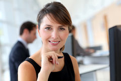 Corporate woman portrait Stock Image