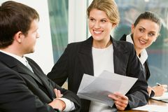 Corporate work Royalty Free Stock Photo