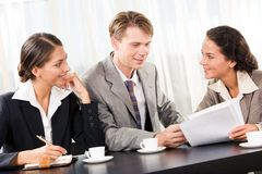 Corporate work Royalty Free Stock Photography