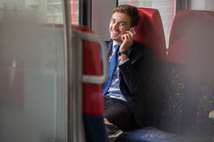 Corporate worker on business trip Royalty Free Stock Photo