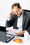 Corporate worker faces stress at work Royalty Free Stock Images