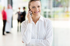 Corporate worker phone Stock Photography