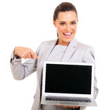 Corporate worker screen Royalty Free Stock Photos