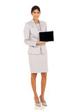 Corporate worker tablet pc Royalty Free Stock Photography