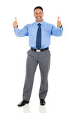 corporate worker thumbs up royalty free stock photography