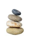 Corporate zen. Stone, isolated on white background Royalty Free Stock Image