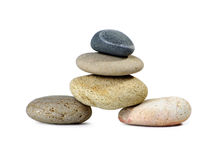 Corporate zen. Stone, isolated on white background Royalty Free Stock Images