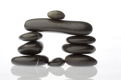 Corporate  zen. Rocks stacked one one top of another is an art form. A type of Zen if you will. Corporate America can surely use more of this. Space on left for Stock Photography