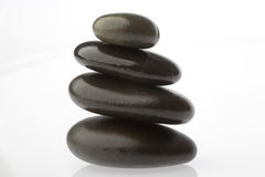 Corporate  zen. Rocks stacked one one top of another is an art form. A type of Zen if you will. Corporate America can surely use more of this. Space on left for Royalty Free Stock Photography