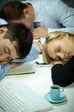 Corporatieve slaap stock afbeelding