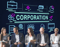 Corporation Company Corporate Enterprise Group Concept Royalty Free Stock Image