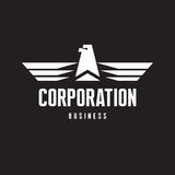Corporation - Eagle Logo Sign in Classic Graphic Style Royalty Free Stock Photo