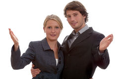 Corporation employees in relationship Stock Images