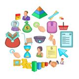 Corporation icons set, cartoon style. Corporation icons set. Cartoon set of 25 corporation vector icons for web isolated on white background Royalty Free Stock Photo