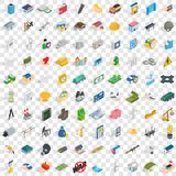 100 corporation icons set, isometric 3d style Stock Photo