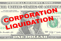 Corporation Liquidation concept Stock Image